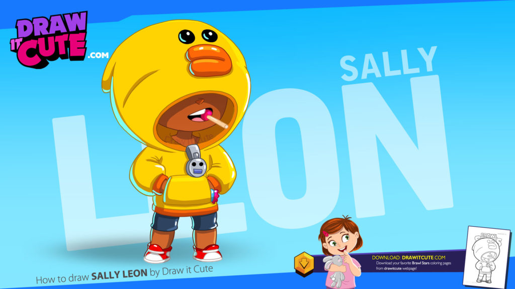Sally Leon, nowy żółty zadymiarz z Brawl Stars. Na stronie do pobrania darmowa kolorowanka.
